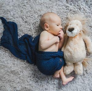 Newborn Photo Prop Swaddle- Blue